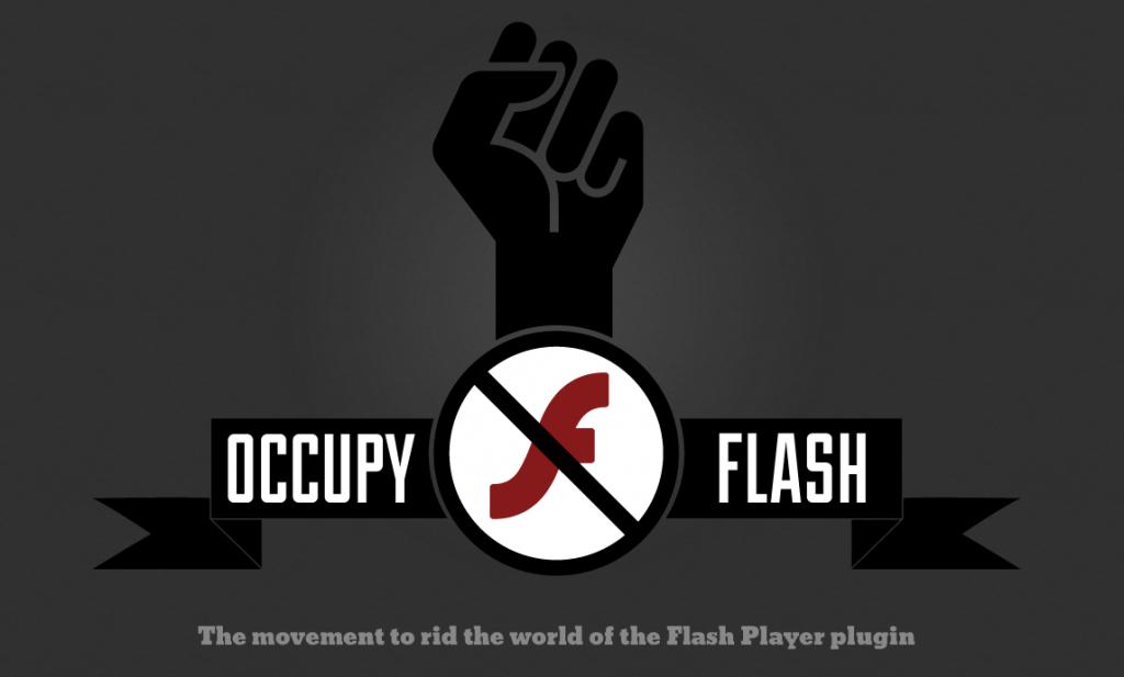 Imagen del movimiento 'Occupy Flash'