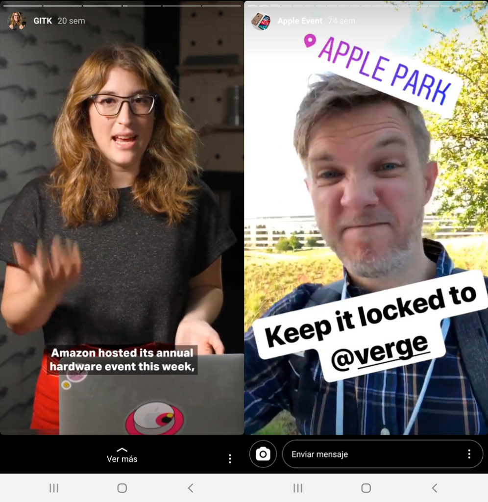 Instagram Stories de The Verge